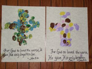 Fingerpaint Crosses